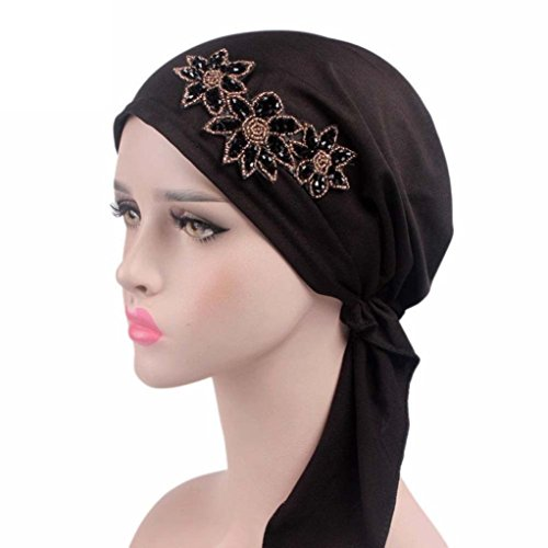 dikewang Frauen Cancer bei Haarverlust Hat Head Wrap Diamant als Modeaccessoire Haar Band Turban Twist Stirnband Schnitt Haarband für Mädchen Baby Girl Elastic...