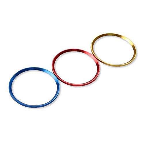 Macxy 4x-Legierung Auto-Rad-Mitte-Naben-Kappen-Abdeckung Ring Trim-Ring f¨¹r Audi A3 A4L Q3 Q5 A5 A6L Car Styling Aufkleber [rot] (Entferner-tuch Wachs)