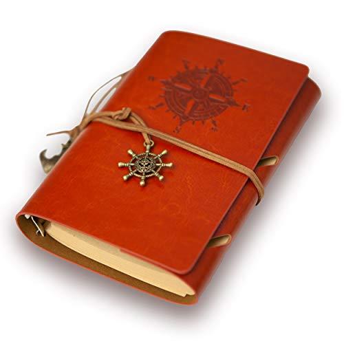 URBANISTTM Vintage Notizbuch mit Ringbucheinlagen | nostalgisches & hochwertiges Design | ideal als Tagebuch, Sketchbook oder Geschenk