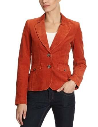 tom tailor damen blazer 39000716270 fitted cord blazer gr 34 orange 3202 bekleidung. Black Bedroom Furniture Sets. Home Design Ideas