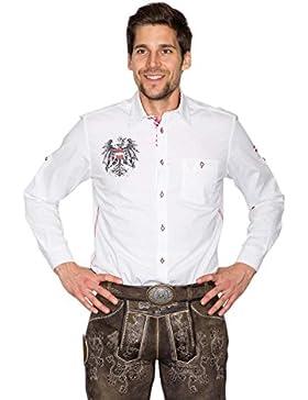 Krüger - Herren Trachtenhemd in weiß, Österreich (94114-1)