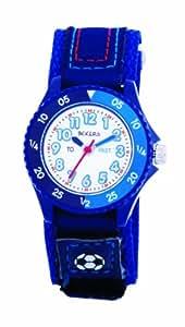 Tikkers - TK0004 - Montre Garçon Football - Quartz Analogique - Bracelet Bleu