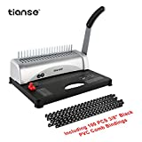 Binding Machine, 21-Hole, 450 Sheet, Spiral Binding Machine with Starter Kit 100 PCS