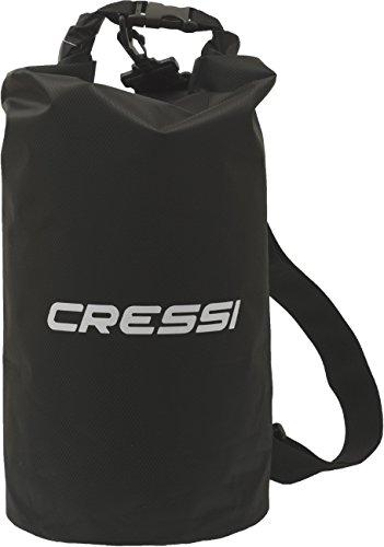 Cressi Dry Bag Sacca Stagna per Attività Sportive, Sub, Pesca, Nautica, Nuoto e Sport Acquatici, Tek, 20 L, Nero