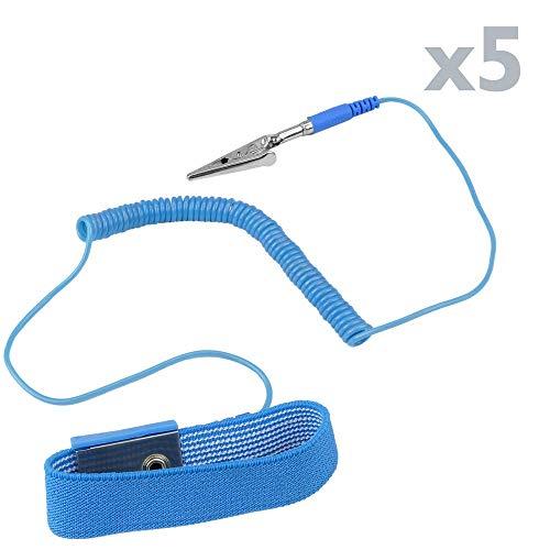 ches Armband gegen statische Entladungen für Reparaturarbeiten 5-Stück ()