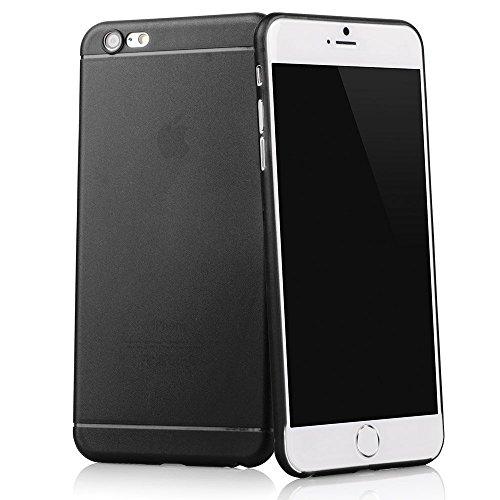 TheSmartGuard Hülle kompatibel für iPhone 6S-6 Hülle Schutzhülle (4,7 Zoll) - Ultra-dünn mit integriertem Schutz für die Kamera-Linse - Farbe schwarz transparent