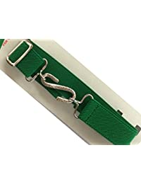 "Elastic Kids Snake Belt - 1"" Wide Stretchy Belt - Various Colours. (Bright Green)"