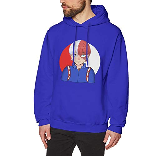 Harrisontdavison Herren Baumwolle Graphic Hoody Slim Fit Grafik Shoto Todoroki Blue Langärmliges Sweatshirt S -