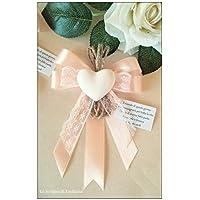 10 segnaposto Matrimonio, Comunione, Compleanno gessetto profumato cuore