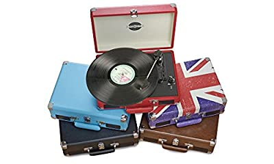 Zennox Retro Premium Briefcase Style Vinyl Turntable with Built in Stereo Speakers. - low-cost UK light shop.