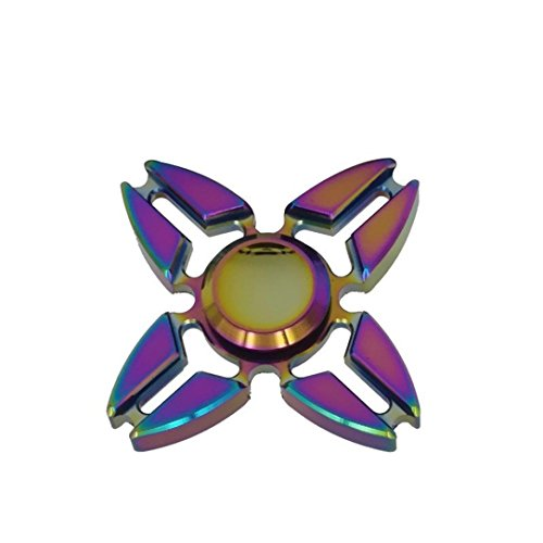Tri Fidget Hand Spinner Toy, Bescita Fidget Spinner Triangle Single Finger Decompression Gyro - Perfect For ADD, ADHD, Anxiety, and Autism Adult Children (Multicolor 2)