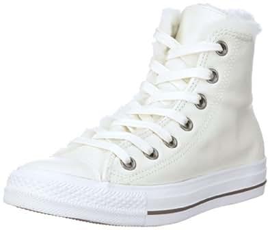 Converse Chuck Taylor SPEC HI 122437, Damen Sneaker, Beige (milk/silver), EU 36.5 (US 4)