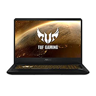 "ASUS TUF Gaming FX705GM-EV020 - Ordenador portátil 17.3"" FHD 144Hz (Intel Core i7-8750H, 16GB RAM, 1TB HDD + 256GB SSD, Nvidia GTX1060 6GB, sin sistema op.) Metal y Oro - Teclado QWERTY Español (B07L6RFHC3) 