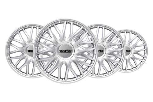 SPARCO SPC1496SV Copricerchi Roma Silver 14' Set di 4