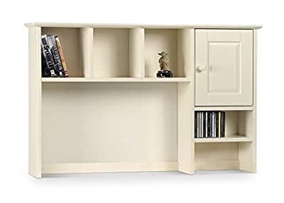 Happy Beds Cameo Stone White Finish Hutch Top For Desk Shelves Cupboard Storage Bedroom Furniture - low-cost UK light shop.