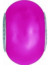 Grand Trou Perles de Crystal de Swarovski Elements 'Crystal BeCharmed' 14mm (Crystal Neon Pink, Acier affiné), 12 Pièces