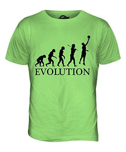 CandyMix Netball Evolution Des Menschen Herren T Shirt Limettengrün
