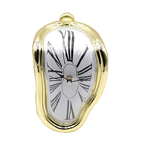 B Blesiya Reloj Derretido Decor Creativo Bonito Artístico - Oro