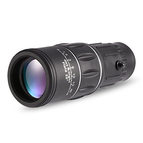 Richer-R 16X Objektiv Zoom Mikroskop, Tragbar Optisches Mikroskop Objektiv HD Kamera Teleskop Zoom,Wasserdicht Handy Mikroskop Teleobjektiv mit Halter für Sport Konzerte Reisen Wandern usw.