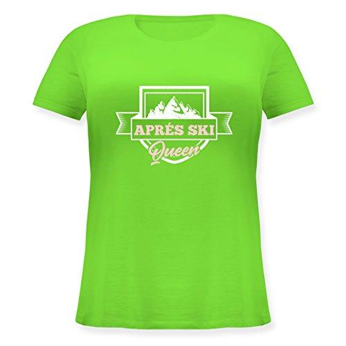 Shirtracer Après Ski - Aprés Ski Queen - Lockeres Damen-Shirt in Großen Größen mit Rundhalsausschnitt Hellgrün