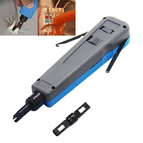 Cat5e 110 Block (aveson Professional Punch Down Werkzeug mit 110/88und 66Klingen, CAT6/Cat5e Netzwerk Draht Telecom Telefon Kabel Sockel Auswirkungen Terminal einfüllen Tools)