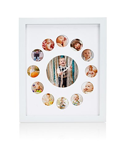 Pearhead 81019 First Year Baby Photo Frame, weiß