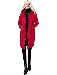 Queenshiny thick Long Women's Down Coat hooded Goose down filling winter uk size from 8--16 two big pockets