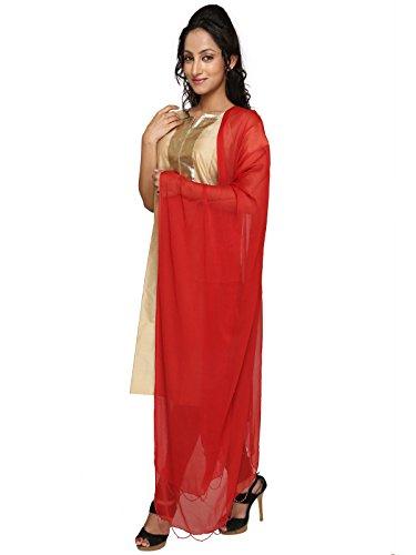 Dupatta Bazaar Women's Dupatta (DB0371_Red_Free Size)