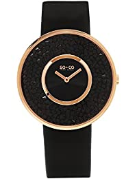 SO & CO New York - Reloj de pulsera analógico para mujer, correa