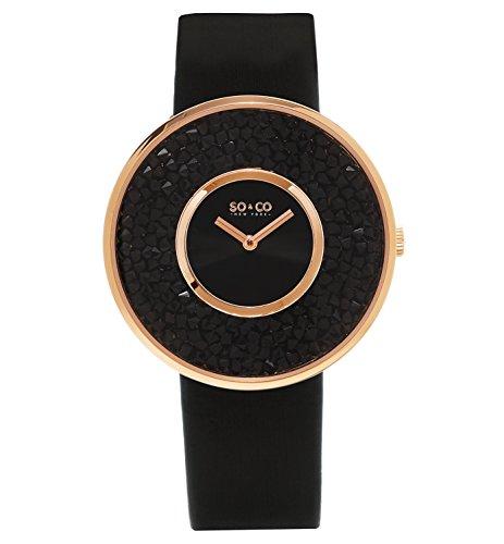 SO & CO New York 5223.5 Damen-Armbanduhr Analog Edelstahl beschichtet