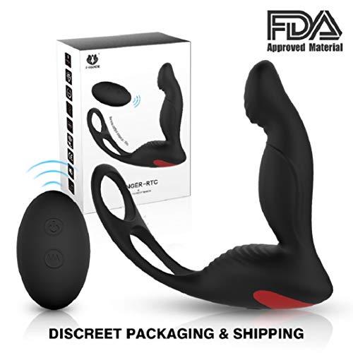 Amal Training Plugs - MaleProstatě Massaggiando 10 frequenze USB Massaggiatore di Ricarica Vibrations