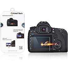 Foto & Tech Premium calidad templado protector de pantalla de cristal óptico de precisión para Canon 5d mark IV, 1d X Mark II, 5DSR, 5d Mark III LCD w/a prueba de arañazos 9H Dureza, alta definición, Ultra claro, anti-smudges, Slim