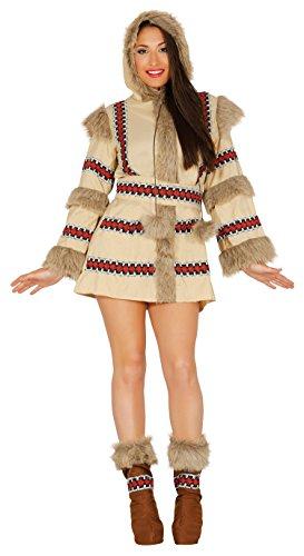 Guirca-Kostüm Erwachsene Eskimo, Gr. - Eskimo Kostüm Für Erwachsene