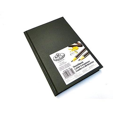 & Royal Langnickel-Blocco da disegno, formato A5, colore: grigio-Carta trasparente per tracciare Sketch Book-Taccuino con copertina rigida, 110 g/mq, 220 pagine, 14 x 21,6 cm