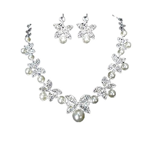 nozze-gioielli-da-sposa-collana-di-perle-set-strass-farfalla-orecchini