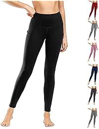 Damen Leggings Yogahosen Sporthose Tights Laufhose High Waist mit Taschen Dehnbar Jogginghose Yoga Sport Fitness Laufen