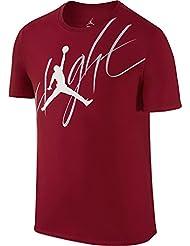 Nike Michael Jordan Flight Tee - Camiseta de manga corta para hombre, color rojo, talla L