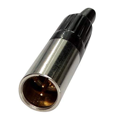 Aerzetix: 2 x Stecker Anschluss XLR Mini 4pins Pin Stecker männlich zu Löten C19635