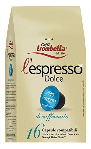 Caffè Trombetta L'Espresso Dolce Decaffeinato - 8 Confezioni da 220 g
