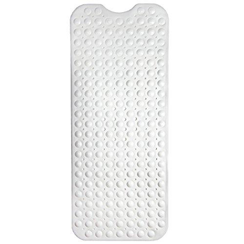HAFTPLUS Badewannenmatte - Die Gute Rutschfeste Für Ihre Badewanne - Badewanneneinlage Badematte In Weiß – Größe: 100 x 40 cm
