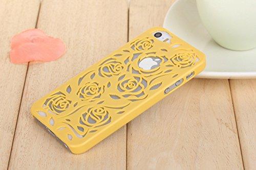 Coque iPhone Samsung Galaxy S3 , iNenk® Hot Summer Slim couleur modèle creux téléphone Rose rétro Shell manchon protecteur Etui PC couverture mode marée-bleu Jaune