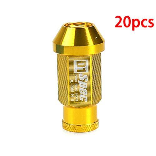 FidgetGear M12 x 1,5 mm Vimax Iron Open End Tuner Gold Extended Radschraube Muttern 20 Stück Neu