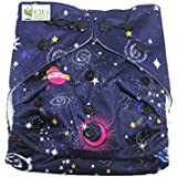 VBaby Space Printed Cloth Diaper Reusable Nappy Organic Fabric Anti Bacterial Washable,Waterproof Premium Adjustable Small/Medium/Large Reusable Cloth Diaper With 1 Cotton Insert Lining 0-2 Years