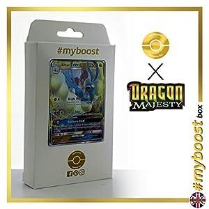 Altaria-GX 40/70 Holo Reverse - #myboost X Sun & Moon 7.5 Dragon Majesty - Box de 10 cartas Pokémon Inglesas