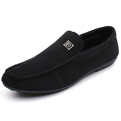 HUAN Hommes Chaussures PU Printemps Automne Light Semelles Confort Mocassins & Slip-Ons Chaussures de Marche Casual Outdoor Noir Rouge Black