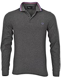 Fred Perry Polo Poloshirt Homme Gris Rose ,Bleu coupe étroite Cotton Casual XL