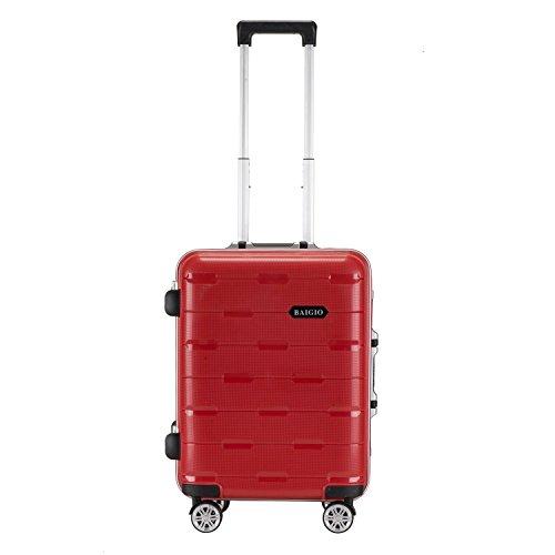 BAIGIO-Maleta-a-Mano-Equipaje-de-Cabina-Rgida-Cerradura-TSA-Equipaje-de-Mano-56CM-45L-Rojo