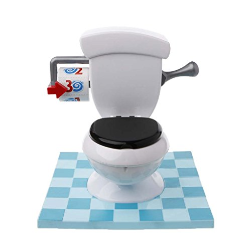 Senoow Crazy Urkomisch Board WC Spiel Mit Flush Sound-Effekte Kinder Kind Spielzeug Geburtstag Neuheit Geschenke, 10.43x3.15x10.43 Zoll