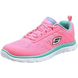 SkechersFlex AppealSweet Spot - Scarpe da Ginnastica Basse Donna , Rosa (Pink (HPTQ)), 38