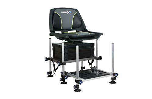 Fox Matrix F25 System Seat Box and Swivel Seat Combo GMB114+GMB117+GMB014 Sitzkiepe mit Drehstuhl -